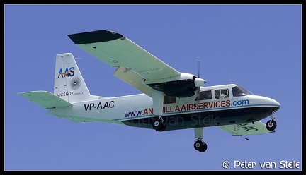 6101057 AnguillaAirServices BN2A VP-AAC  SXM 29042016