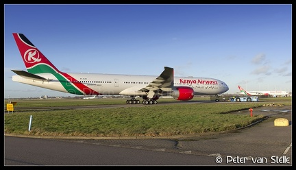 6100451    overview-KenyaAirways-B777s AMS 28012016