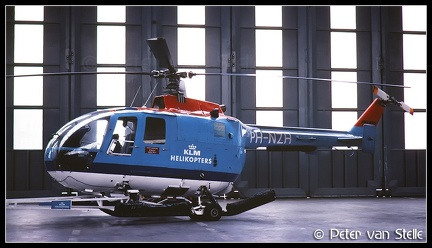 19801428 KLMHelikopters MBB105 PH-NZH  AMS 06111980