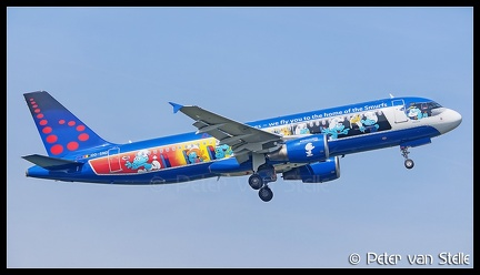 8063288 BrusselsAirlines A320 OO-SND Smurf-colours BRU 21042018