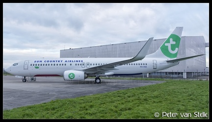 6102960 SunCountryAirlines B737-800W PH-HSK basic-Transavia-colours AMS 02112017