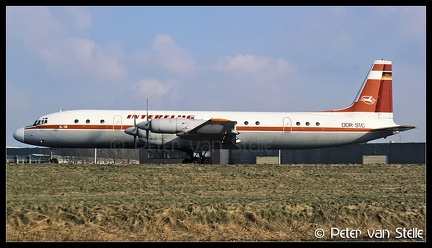 19860212 Interflug IL18 DDR STC  AMS 08021986 (8038216)