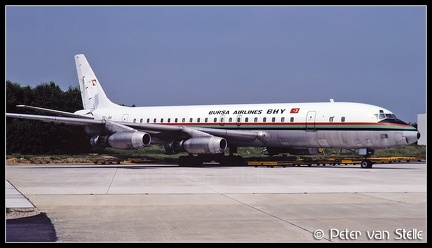 19820408 BursaAirlines DC8-21 TC-JBV  MST 10061982