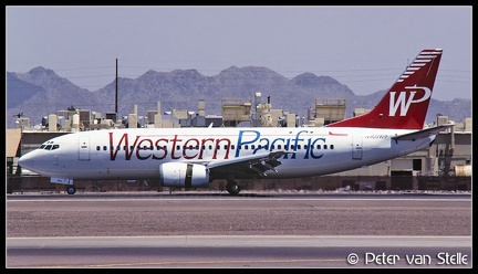 19970720 WesternPacific B737-300 N960WP Red PHX 13061997