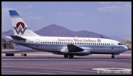 19970737 AmericaWestAirlines B737-200 C-GCPW  PHX 13061997