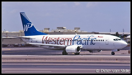 19970721 WesternPacific B737-300 N960WP Blue PHX 13061997